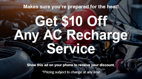 Ernies 10 Off AC Charge Special